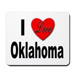 I Love Oklahoma Mousepad