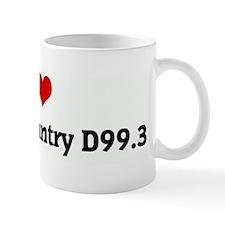I Love Outlaw Country D99.3 Mug