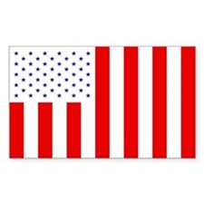 Civil Flag Rectangle Bumper Stickers