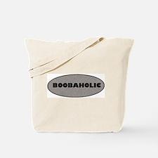 Boobaholic Silver Tote Bag