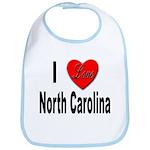 I Love North Carolina Bib