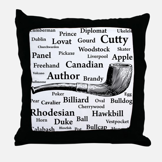 Pipe Shapes Throw Pillow