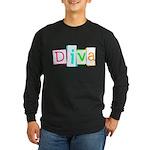 Abstract Diva Long Sleeve Dark T-Shirt