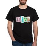 Abstract Diva Dark T-Shirt
