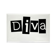 Abstract Diva Rectangle Magnet (10 pack)
