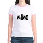 Abstract Diva Jr. Ringer T-Shirt