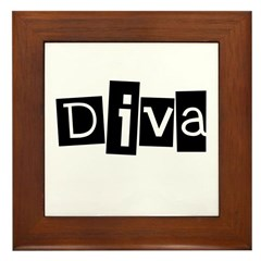 Abstract Diva Framed Tile