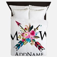 Boho Chic Arrow Monogram Queen Duvet