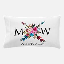 Boho Chic Arrow Monogram Pillow Case