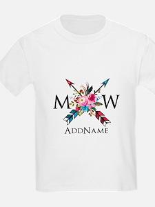 Boho Chic Arrow Monogram T-Shirt