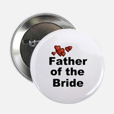 "Hearts Father of the Bride 2.25"" Button"