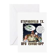 Texas UFO 2008 Greeting Card