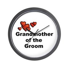 Grandmother of the Bride Wall Clock