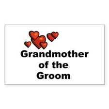Grandmother of the Bride Rectangle Decal