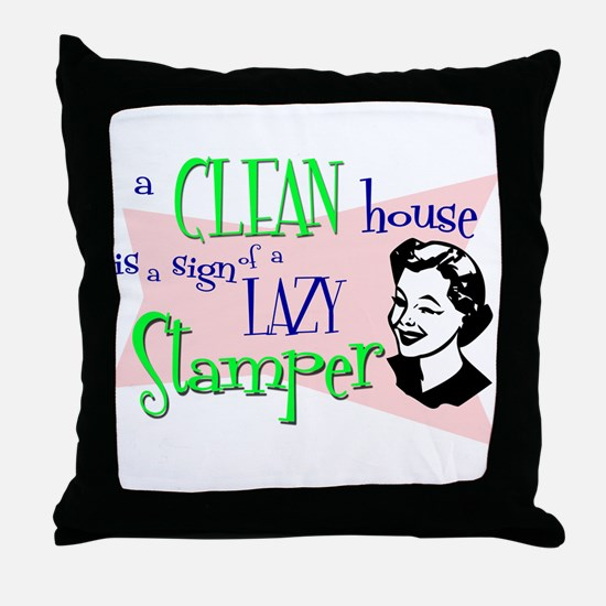 Lazy Stamper Throw Pillow
