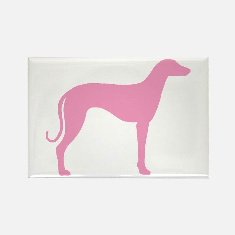 Pink Sloughi Rectangle Magnet
