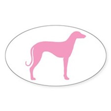 Pink Sloughi Oval Decal