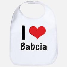 I 'heart' Babcia Bib