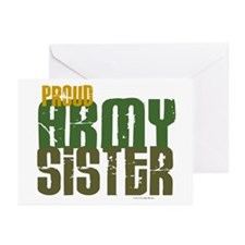 Proud Army Sister 1 Greeting Cards (Pk of 20)