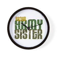 Proud Army Sister 1 Wall Clock
