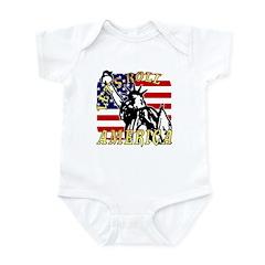 Let's Roll Patriotic Infant Creeper