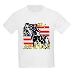 Let's Roll Patriotic Kids T-Shirt