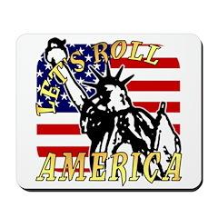 Let's Roll Patriotic Mousepad