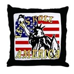 Let's Roll Patriotic Throw Pillow