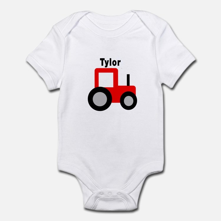 Tylor - Red Tractor Infant Bodysuit