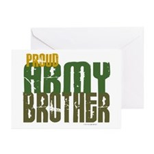 Proud Army Brother 1 Greeting Cards (Pk of 10)
