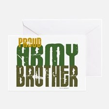 Proud Army Brother 1 Greeting Card