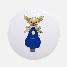 Small But Mighty Scooter Dog Ornament (Round)