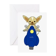 Small But Mighty Scooter Dog Greeting Card