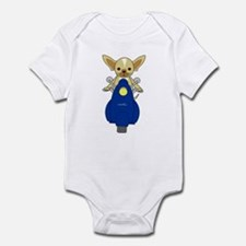 Small But Mighty Scooter Dog Infant Bodysuit