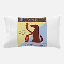 Brown Dog Cookies Pillow Case