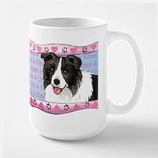 Border Collie Valentine Large Mug