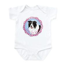 Border Collie Valentine Infant Bodysuit