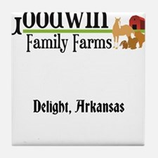 Farm logo Tile Coaster