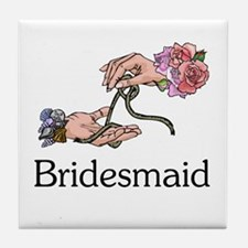 Handfasting Bridesmaid Tile Coaster