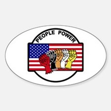 People Power Oval Decal