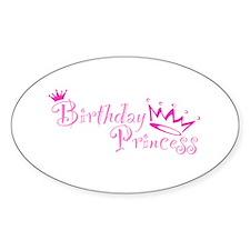 Birthday Princess Oval Decal