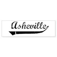 Asheville (vintage) Bumper Bumper Sticker