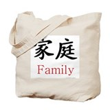 Chinese symbol family Canvas Bags