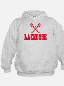 Red Lacrosse Hoodie