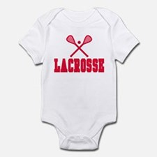 Red Lacrosse Infant Bodysuit