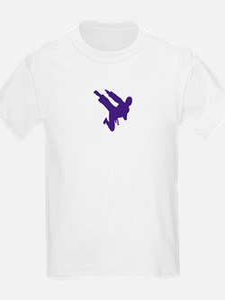 Blue Karate Silhouette T-Shirt