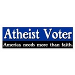 Atheist Voter Bumper Sticker