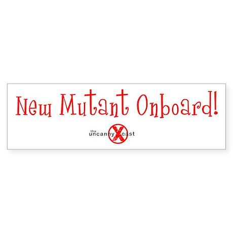 New Mutant Bumper Sticker