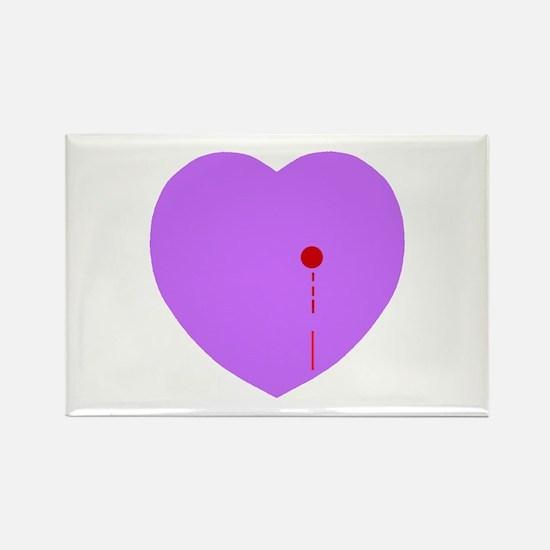 Bleeding Heart Rectangle Magnet