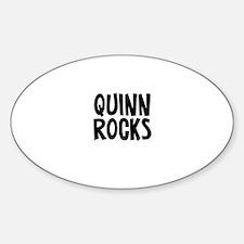 Quinn Rocks Oval Decal